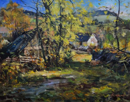 Autumn with cottages